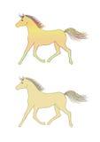 Vektorhästar Arkivbild