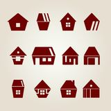 Vektorhäuser Lizenzfreies Stockfoto