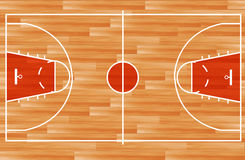 Vektorhölzerner Basketballplatz Lizenzfreie Stockfotos