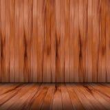 Vektorhölzerner Raum mit Panel und Fußboden vektor abbildung