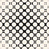 Vektorhalbton kreist Muster ein Geometrische nahtlose Beschaffenheit mit verwandelnden Formen lizenzfreie abbildung