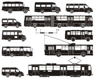 Vektorhallo-ausführliches Transportset Stockfoto