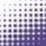 Vektorhalvton pricker bakgrund Ultravioletprickar på vit bakgrund Royaltyfri Fotografi