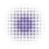 Vektorhalvton pricker bakgrund Ultravioletprickar på vit bakgrund Royaltyfri Bild