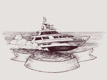 Vektorhastighetsfartyg royaltyfri illustrationer