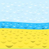 Vektorhav och sandillustration Royaltyfri Illustrationer