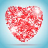Vektorherzillustration für Valentinstag stock abbildung