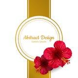 Vektorhibiscusblume Einladungskarte _1 Stockfotografie