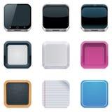 Vektorhintergründe für quadratische Ikonen Lizenzfreie Stockbilder