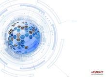 Vektorhintergrund der abstrakten Wissenschaft mit Hexagonen Stockfotos