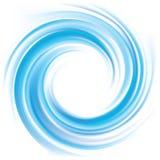Vektorhintergrund der blauen wirbelnden Wasserbeschaffenheit vektor abbildung