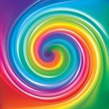 Vektorhintergrund des gewundenen Regenbogenspektrums vektor abbildung