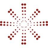 Vektorhintergrund des roten runden Kreises Lizenzfreies Stockfoto