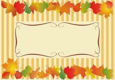 Vektorhintergrund für Text mit Herbstlaub Lizenzfreie Stockbilder