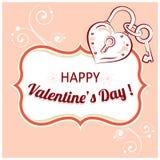Vektorhintergrund für Valentinsgrußtag Stockbild