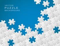 Vektorhintergrund gebildet vom Puzzlespiel Stockfotos