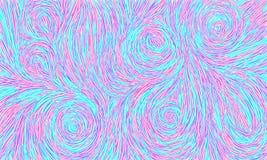 Vektorhintergrund handgemacht Blauer Hintergrund gezeichnet mit Vektorbürstenanschlägen lizenzfreie abbildung