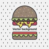 Vektorhintergrund, köstlicher Burger Lizenzfreie Stockfotos