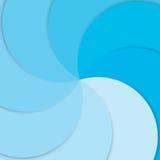 Vektorhintergrund-Kurvenlinie Deckungsschicht des blauen Papiers mit Raum stock abbildung