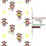 Vektorhintergrund mit Affen Stockbilder
