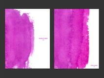 Vektorhintergrund mit Aquarellrosa Stockbilder
