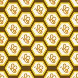 Vektorhintergrund mit Bienen für Ihr Design Stockfoto
