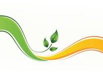 Vektorhintergrund mit Blättern Lizenzfreies Stockbild