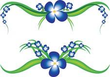 Vektorhintergrund mit Blume stock abbildung