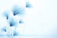 Vektorhintergrund mit Blumen Stockfoto