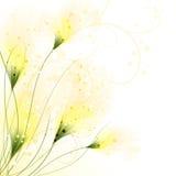 Vektorhintergrund mit Blumen stock abbildung