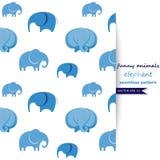 Vektorhintergrund mit Elefanten Stockfotos