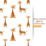 Vektorhintergrund mit Giraffen Lizenzfreie Stockbilder