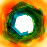 Vektorhintergrund mit Grün und Gelb verwischt Stockbild