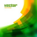 Vektorhintergrund mit Grün unscharfen Linien Stockbilder