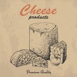 Vektorhintergrund mit Käse Stockfotos