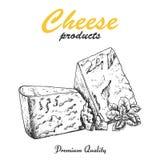 Vektorhintergrund mit Käse Lizenzfreies Stockfoto