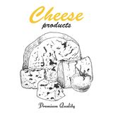 Vektorhintergrund mit Käse Stockfoto