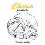 Vektorhintergrund mit Käse Lizenzfreie Stockbilder