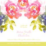 Vektorhintergrund mit rosa Aquarellblumenstrauß Lizenzfreies Stockfoto