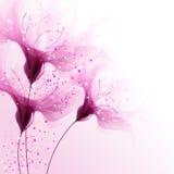 Vektorhintergrund mit rosafarbenen Blumen Lizenzfreie Stockfotografie