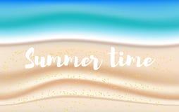 Vektorhintergrund mit sandigem Strand des Sommers vektor abbildung