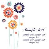 Vektorhintergrund mit stilisierten Blumen Lizenzfreies Stockfoto