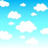 Vektorhintergrund mit Wolken im Himmel Stockfotos