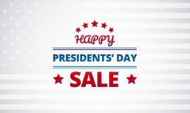 Vektorhintergrund Präsidenten Day Sale Lizenzfreie Stockfotos