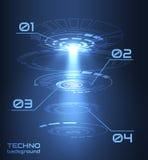 Vektorhintergrund Techno-Hologramm HUDs UI Vektor eps10 stock abbildung
