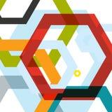 Vektorhintergrund von großen farbigen Hexagonen ENV Lizenzfreies Stockbild