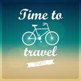 Vektorhintergrund. Zeit zu reisen. Stockbild