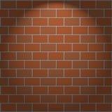 Vektorhintergrundbacksteinmauer und -licht lizenzfreie abbildung