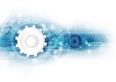Vektorhintergrundzusammenfassungstechnologie-Konzeptillustration Lizenzfreie Stockfotos