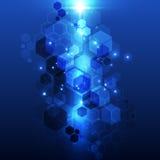 Vektorhintergrundzusammenfassungstechnologie-Konzeptillustration Stockfotografie
